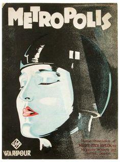 Portada del programa original de la proyección de Metropolis en Inglaterra
