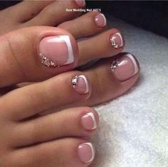 17 Ideas french pedicure designs toenails pretty toes for 2019 Pretty Toe Nails, Cute Toe Nails, My Nails, Pretty Toes, Gel Toe Nails, Acrylic Toe Nails, Pretty Pedicures, Gel Toes, Cute Toes