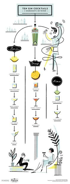The illustration that'll solve all your gin drinking needs.