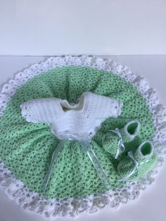 Baby girl dress, booties by TheNanimalShop on Etsy