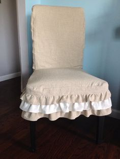 parsons chair slipcover linen slipcover ruffled parsons chair slipcover custom slipcovers want