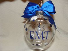 Diy Christmas Ornaments, Christmas Tree Decorations, Christmas Holidays, Christmas Bulbs, Xmas, Christmas 2019, Firefighter Crafts, Firefighter Emt, Police Gifts