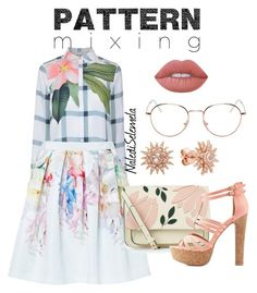 """""""patternMix"""" by nalediselemela ❤ liked on Polyvore featuring Ted Baker, Accessorize, Charlotte Russe, Lime Crime, Kenza Lee, RetroSuperFuture and patternmixing"""