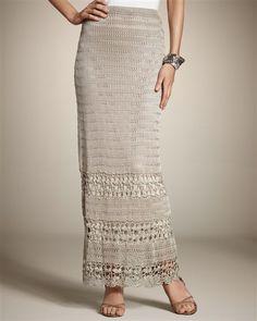 Camel Crochet Skirt