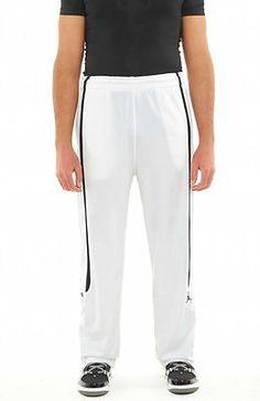 Nike Classic Pant Mens 404314 Mens Track Pants 404314-102 WHITE / BLACK SZ-L