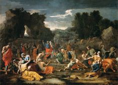 Gathering of Manna by @artistpoussin #classicism