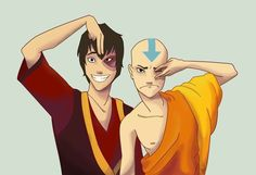 Avatar the Last Airbender - Avatar Aang and Fire Lord Zuko impressions of eachother. Always makes me giggle