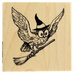 Wicked Owl Rubber Stamp