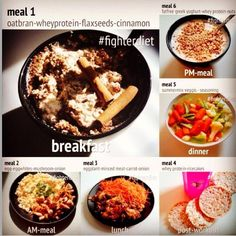 Fighter diet meal plan example day