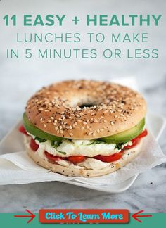 #FastestWayToLoseWeight by EATING, Click to learn more, Bookmark these quick, easy healthy lunch recipes to make for the work week or during your weekend at home. With these mid-day meal recipes, you can make dishes like Chickpea Lettuce Wraps, Spicy Asian Chicken Salad, Oven-Baked Tostadas, Egg Vegetable Bagel Sandwich, Chicken Caprese Sandwich, Pear Blue Cheese Flatbread, Turkey Tomato Panini, Caprese Avocado Salad, Sunny Side Up Avocado Toast, Chickpea Spinach Salad, Greek Yo...