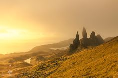 One bright sunrise at The Old Man of Storr, Isle of Skye