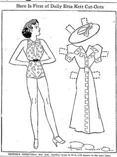 Etta Kett   ETTA KETT Paper Doll, April 1937