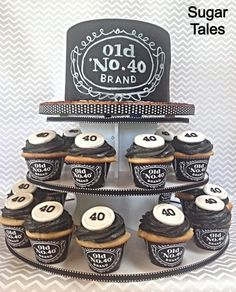 Jack Daniels Inspired Cake And Cupcakes Wrappers From EZ Party Printables On Etsy