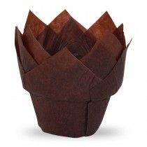 Muffiny tulipan step brązowe 50x80mm G50/STEP