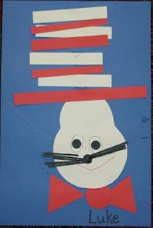Cute, easy art project to do with the kids to celebrate Dr. Seuss.