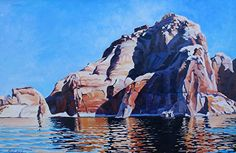 Earth, Wind and Water, Oil, 24x36 by Ron Larson Oil ~ 24 x 36, Lake Powell