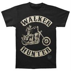 Walking Dead Black Men's Walk Hunter Small T-#shirt