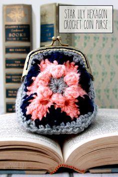 Crochet Hexagon Coin Purse Free Pattern