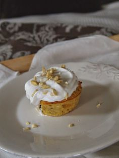 Gluten free muffins with coconut whipped cream!
