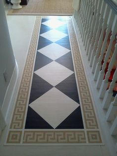 hand painted floor runner at Anthology Art & Design, Carbondale, IL