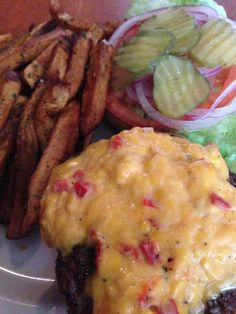 Lamar Lounge pimento cheeseburger and fries - Oxford, MS (photo by Gary Saunders)