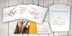 Ideensammlung-Roter Faden für die Papeterie-Symbole-Hochzeitseinladungen und Hochzeitskarten sowie Babykarten und andere Anlasskarten Place Cards, Place Card Holders, Books, Card Wedding, Graphics, Tips, Gifts, Dekoration, Libros