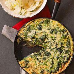Spring Brunch Menu, ENTREE   Broccoli Rabe Frittata with Fennel Salad #RRMenuPlanner