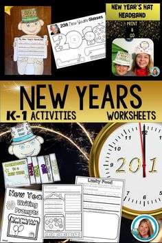 Looking for New Years Worksheets for K-1? This is full of engaging activities!