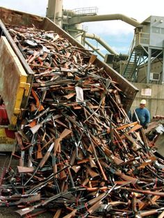 A truck unloads prohibited firearms at a scrap-metal yard in Sydney 2007. Following the massacre of over 30 people at Port Arthur in Australia in 1996 tight gun laws- enacted by a conservative government resulted in 700000 guns being taken out of circulation. I can be done! ABC News (Australian Broadcasting Corporation)