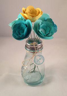 Stampin Up! Spiral Flower Die Cut Salt Shaker Vase