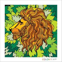 Lion art...  Just played around so it isn't very special