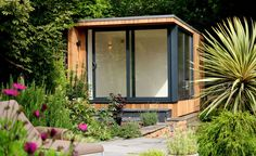 home office in the garden