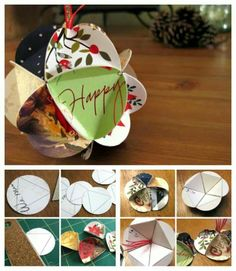 Chinese new year or Christmas ornament..  http://diycozyhome.com/what-to-do-with-all-those-christmas-cards