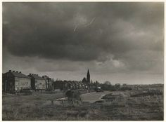 Sportlaan, 1950. Rechts zal het Rode Kruis Ziekenhuis verrijzen.