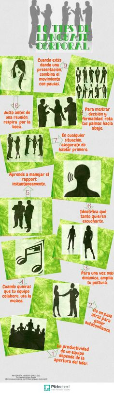 10 TIPS DE LENGUAJE CORPORAL | @Piktochart Infographic