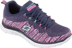 Skechers Flex Appeal Talent Flair - Navy/Multi with FREE Shipping & Returns. Add some sporty interest to your look with the SKECHERS Flex Appeal -