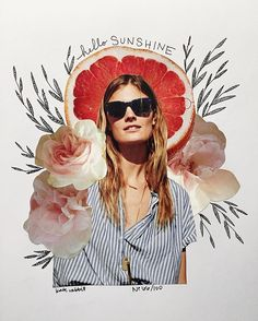 madewell flower collage by kate rabbit - No. 66/100