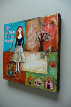Love this mixed media canvas!