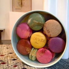 ladurée, heavenly. to be eaten with your feet up. (note- pierre hermé macarons are just as good if not better)
