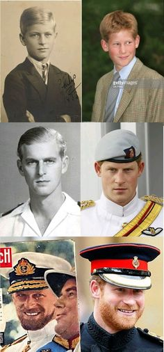 Resemblance of Prince Henry and Prince Philip