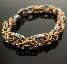 Oval Epic Bronze and Stainless Steel Byzantine Bracelet KIT or Ready Made - Stunning Chainmaille #unkamensupplies