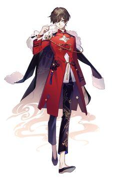 #食物语 【仕事絵】《食物语》男性主人公スキン - 白銀的插画 - pixiv Game Character Design, Fantasy Character Design, Character Design Inspiration, Character Art, Manga Clothes, Drawing Anime Clothes, Vetements Clothing, Kleidung Design, M Anime