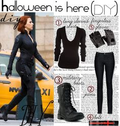 Diy black widow costume pinteres halloween diy by muzix luver liked on polyvore solutioingenieria Choice Image