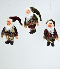 "Katherine's Collection A Christmas Journey Christmas Collection Set Twelve Approx 7"" Journey Mini Elf Ornaments Free Ship"
