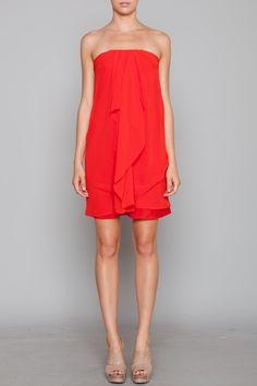 meryl chiffon dress, it could use a black belt at the waist line