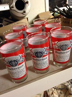 A personal favorite from my Etsy shop https://www.etsy.com/listing/261048937/set-of-vintage-budweiser-glasses