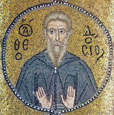 Theodosius the Cenobiarch (c. 423–529)  He was born in Mogarissos, a village in Cappadocia, Saint Basil's province. Theodosius' parents Proheresius and Eulogia were both very pious. (Read the rest of his story here:) https://www.facebook.com/St.Eugene.OMI/photos/a.1490771924522168.1073741828.1490724774526883/1531628287103198/?type=1&theater
