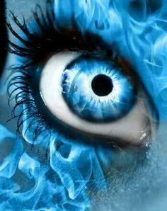 Blue flame eye