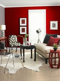 Inspiration For Creating An Accent Wall Walls Red Accents And - Deep red accent wall