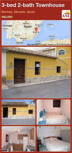 3-bed 2-bath Townhouse in Barinas, Alicante, Spain ►€82,000 #PropertyForSaleInSpain